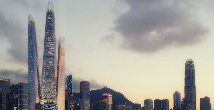 Weston Williamson designs vertical neighborhood with 'kissing towers' in Hong Kong