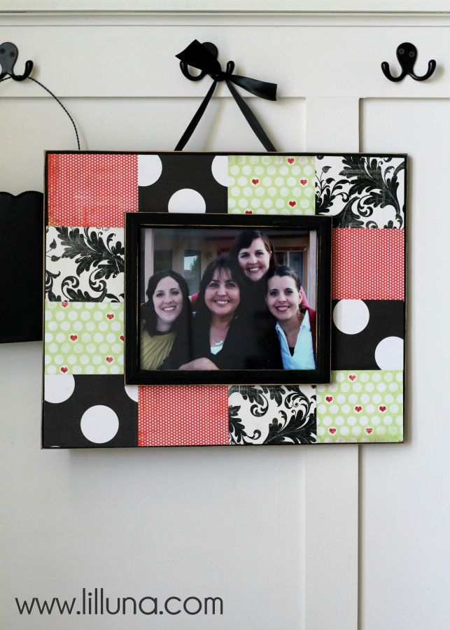 Scrapbook Frame Tutorial. This is an inexpensive but great gift idea. Tutorial on { lilluna.com }