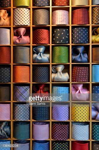 ストックフォト : Neckties displayed in store, Venice, Italy