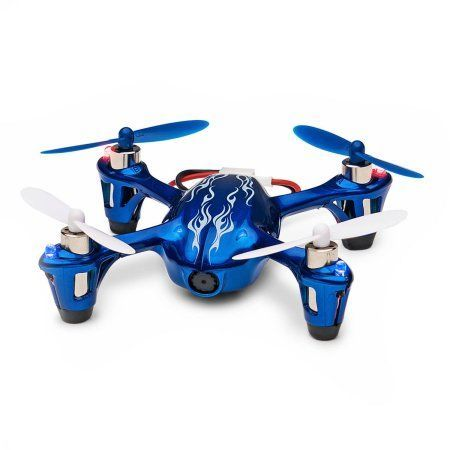 Hubsan X4 H107C 2.4GHz 4-Channel RC Quadcopter Flying Drone with HD 2MP Camera RTF, Royal Blue