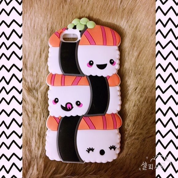 iPhone 6/6s Sushi phone cover Fits iPhone 6/6s. never used. Silicone 3D sushi trio ✨✨ make a statement with this adorable and fun case! Accessories Phone Cases