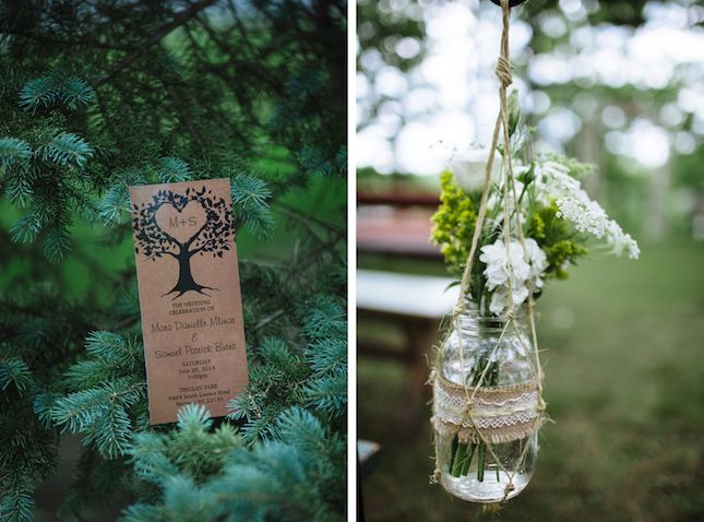 Add rustic details to your wedding venue.