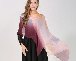 Luxusný hodvábny farebný šál, rozmer 185 x 68 cm..