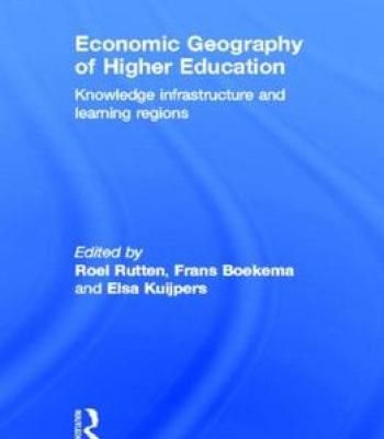 Economic Geography Of Higher Education PDF