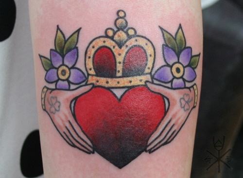 I would not put the flowers on this but I like the heart and crown