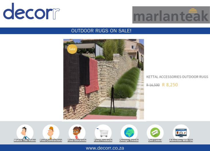 #DecorrOutdoor Outdoor Rugs on Sale @marlanteak http://www.decorr.co.za/marlanteak/  #decorrpromo