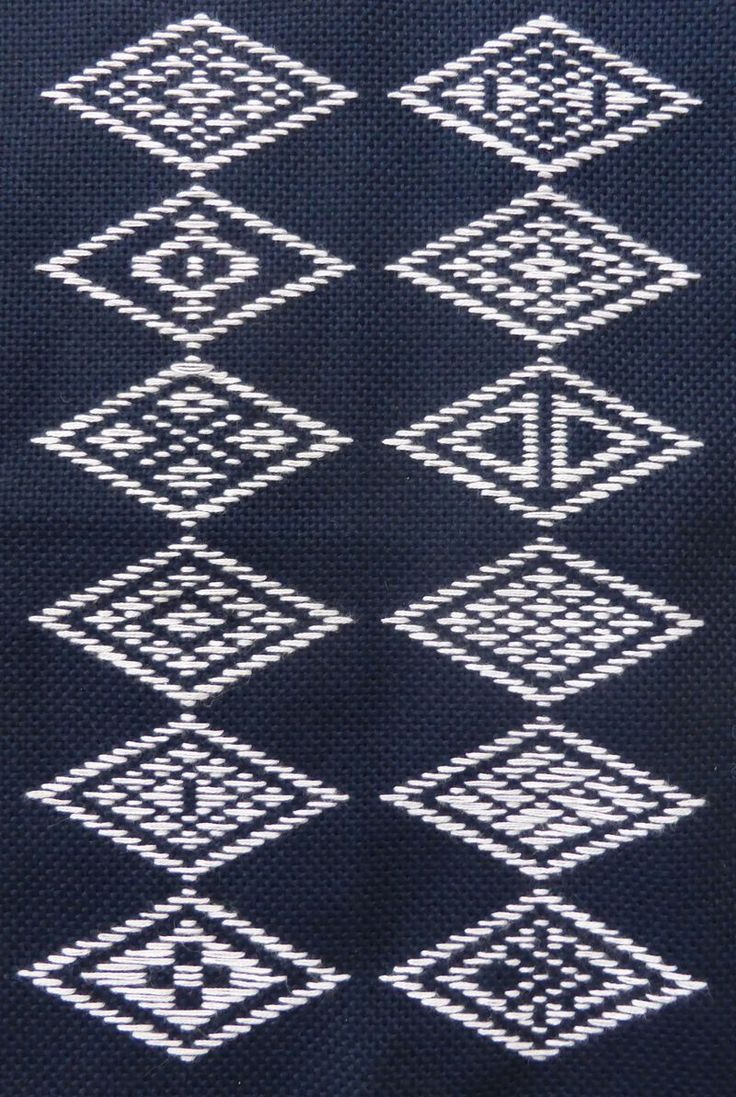 Japanese Kogin patterns