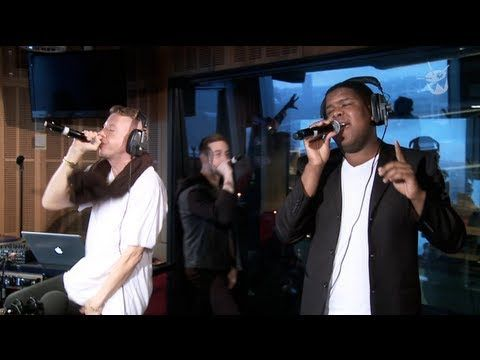 This is totally what I look like when I'm in the zone... lmao  ▶ Macklemore & Ryan Lewis - 'Can't Hold Us' feat. Ray Dalton (live on triple j) - YouTube