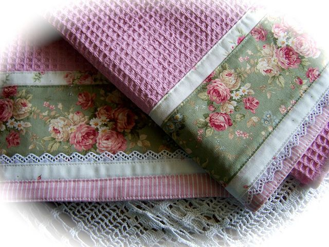 To die for! - Decorative and Romantic - cottage rose towels. by Decorative Towels - Created by Cath., via Flickr