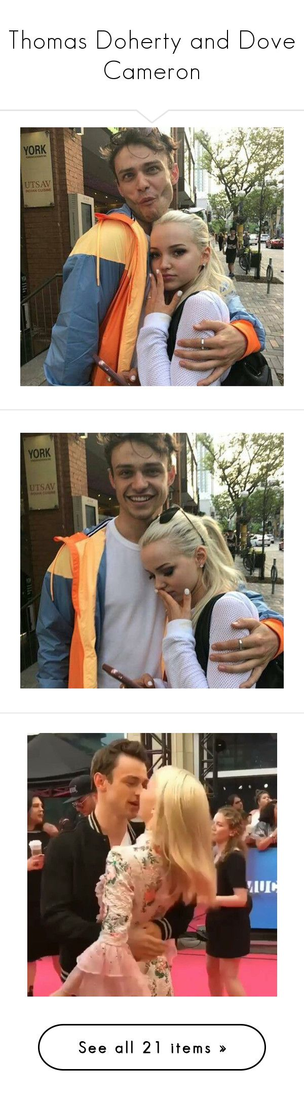 """""""Thomas Doherty and Dove Cameron"""" by leeandbulletfan ❤ liked on Polyvore"""