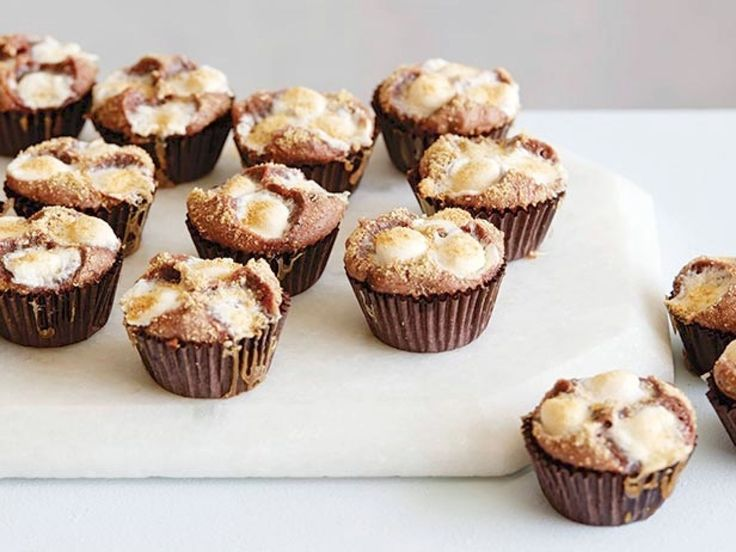 S'more Brownie Bites : These decadent bites have the flavor of s'mores with the texture of brownies.