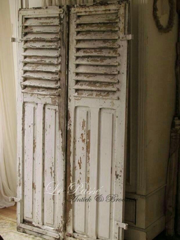 1143 best shutters images on Pinterest Shutters Shabby vintage