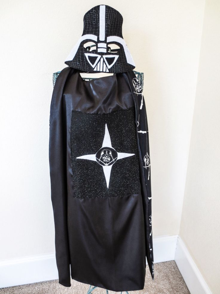 Darth Vader SET: Cape and Mask / Star Wars Costume / Kids Playwear by twirligirli on Etsy https://www.etsy.com/listing/250894911/darth-vader-set-cape-and-mask-star-wars