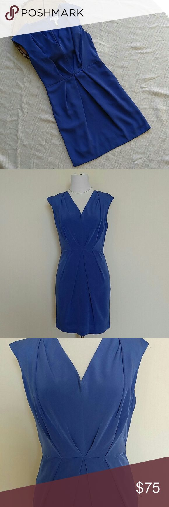 BCBGeneration Cocktail Dress Azure blue cocktail dress with pretty pleating! NWT! Thanks for looking! BCBGeneration Dresses Mini
