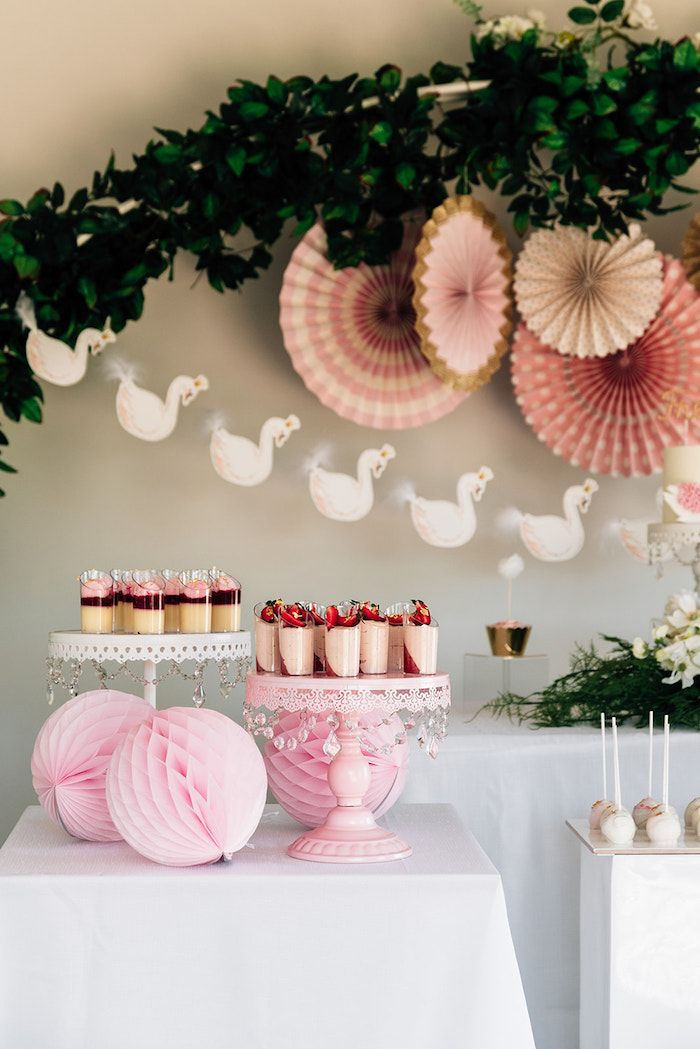 Stylish Swan Birthday Party