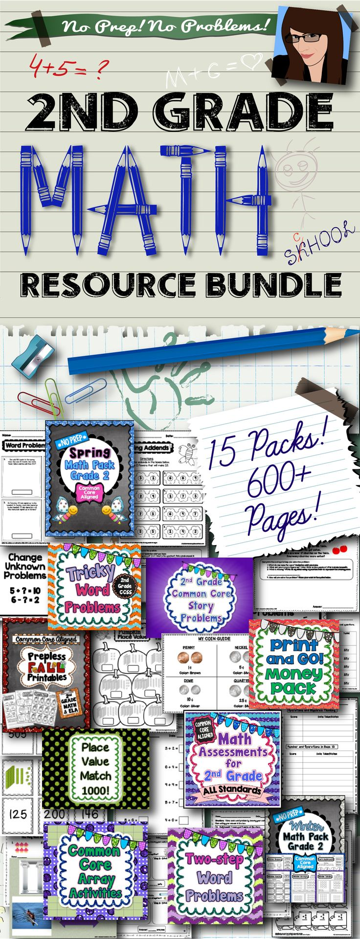 2nd Grade Math Resources..600+ Pages!