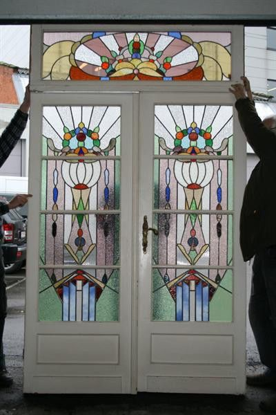 221 best images about vintage stained glass windows on for 1920s door design