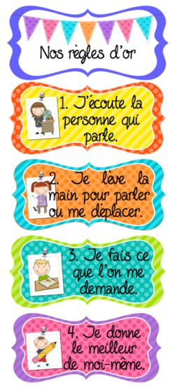 Classroom Golden Rules / Classroom Management in French: gestion du comportement les regles d'or