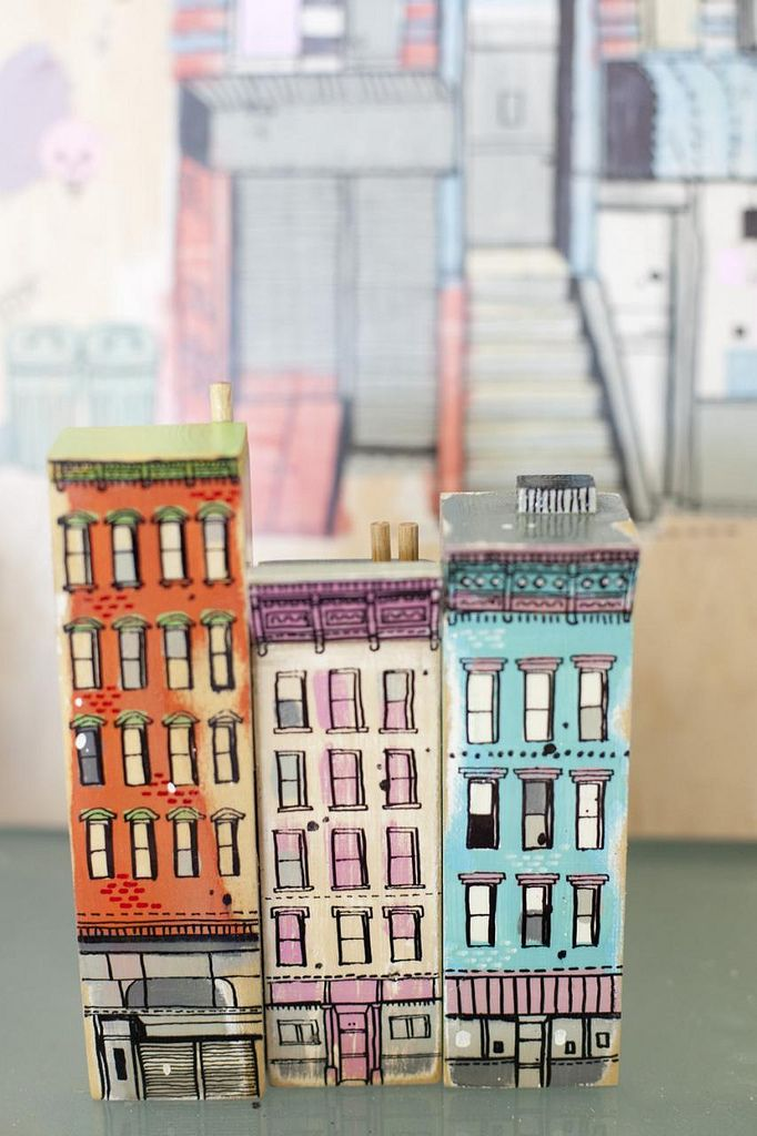 """Aussie illustrator James Gulliver Hancock, from a project called """"All The Buildings In New York""""."""