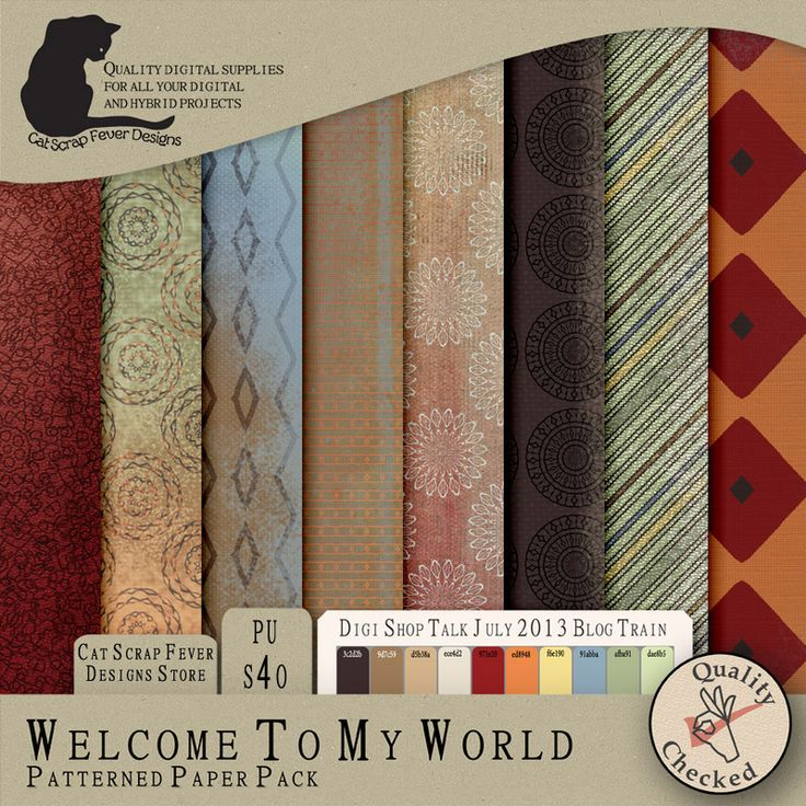 Welcome to My World mini kit by Cat Scrap Fever