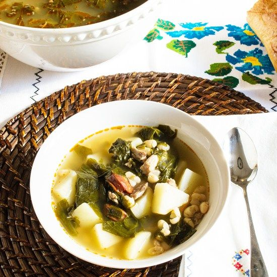 Caldo Gallego is the traditional soup of Galicia, a region in the northeast of Spain.
