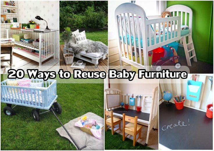 Diy Projects: 20 Ways to Reuse Baby Furniture