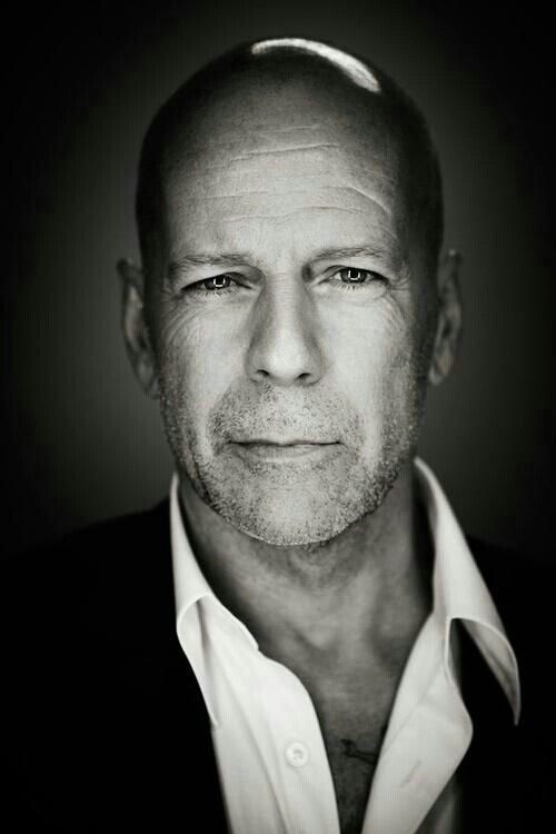 Bruce Willis *his doppelganger is BRUCE WILLIS. [My grandmother's name is GARMAI. The grandfather, is SELEEKE (I think).]