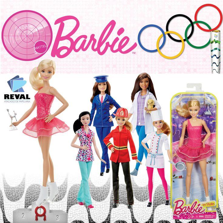 Com o sortimento Barbie Profissões (60674, DHB18), você pode ser o que quiser!   Cada uma delas veste seu traje profissional, com seu estilo próprio e acessório icônico. Escolha entre uma piloto com capa, patinadora no gelo com troféu, enfermeira com estetoscópio, veterinária com cachorrinho, bombeira com capacete ou chef com frigideira.   Inclui boneca com trajes profissionais e acessório temático.  #Reval #Mattel #RadarMattel #Barbie #Rio2016 #Rio #RiodeJaneiro #Olympics #Olympics2016