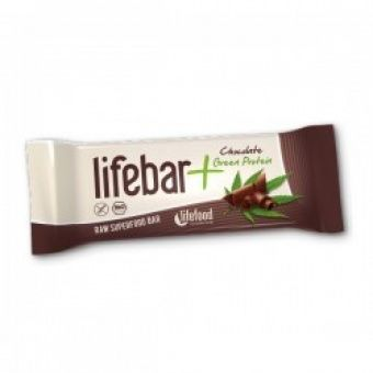 RAW Lifebar Plus Choco Green Protein