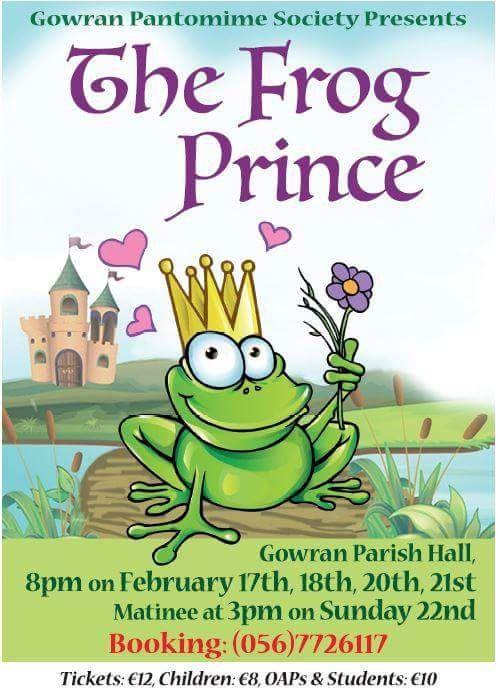 #panto 'The Frog Prince' in Gowran #Kilkenny