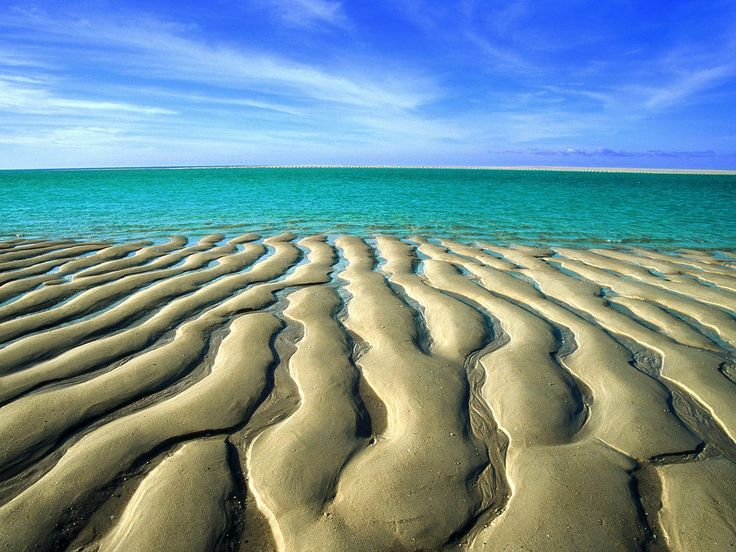 Sand Ripples At Low Tide Broomes Cable Beach Western Australia
