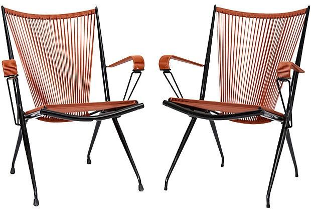 Mompoix folding Garden Chairs  Frederick P. Victoria & Son