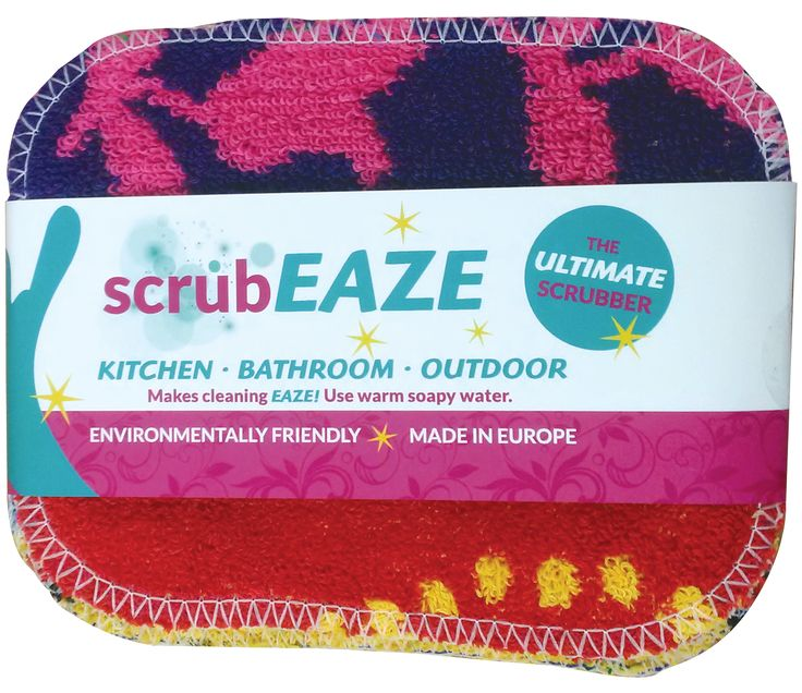 scrubEAZE Scrubby Cloths | GetN'Green -- These are the absolute best scrubbing cloths for cleaning pots & pans and use in the kitchen (cleaning stove) I've ever used!