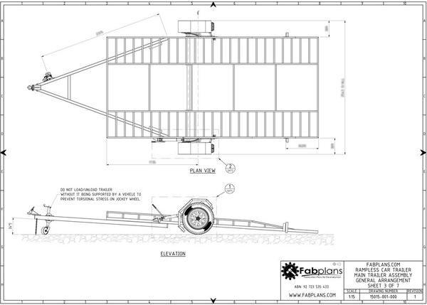 hydraulic car trailer plans top view