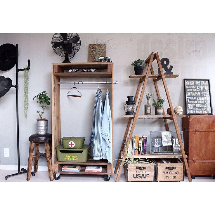 寝室/ブログ更新しました♡/ガス管ハンガーラック/古材/パレットDIY/DIY家具…などのインテリア実例 - 2016-02-22 19:54:53 | RoomClip(ルームクリップ)