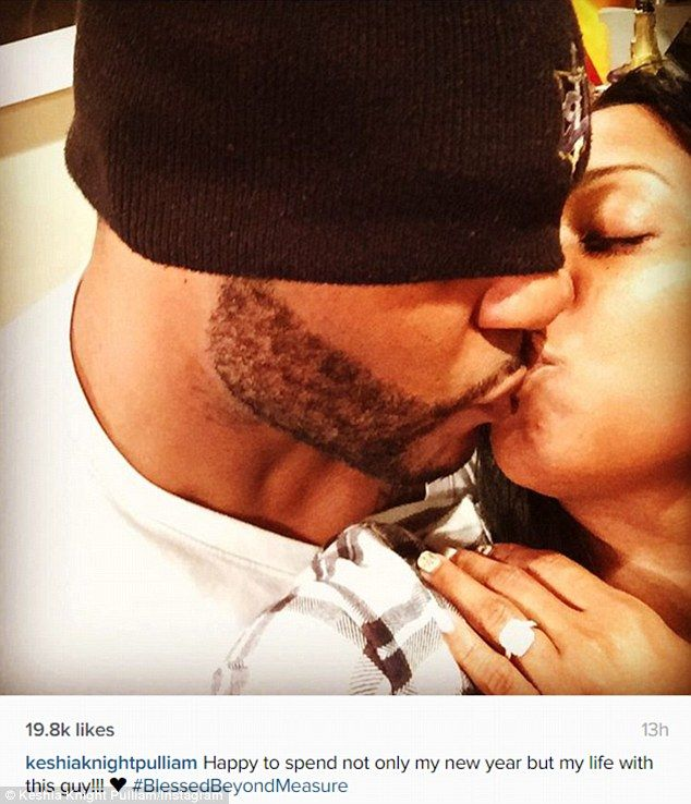 Set to wed: Keisha Knight Pulliam, 36, shared this photo on her Instagram to announce her engagement to former NFL pro Ed Hartwell
