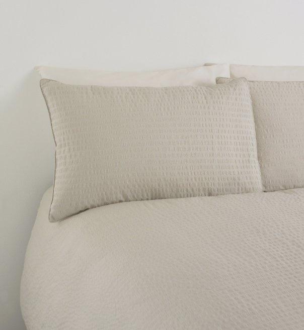 Textured Seersucker Bedset-Marks & Spencer