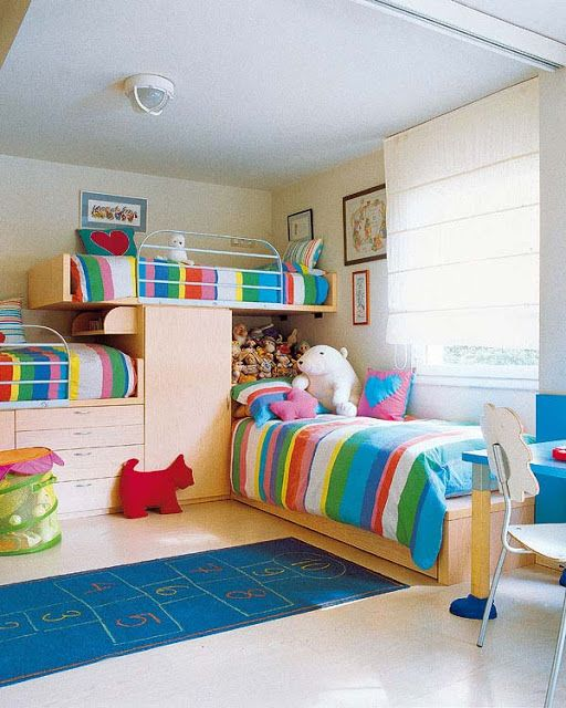 222 best images about dormitorios para ni os y jovenes on - Habitaciones decoradas para ninos ...