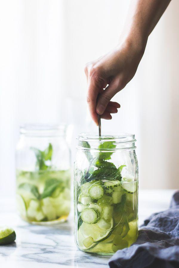 Sangrìa Verde - Vinho Verde, Cucumber, Melon, Mint, Basil + Lime