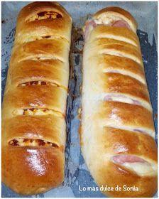 Lo más dulce de Sonia: Pan relleno de Jamon york y queso
