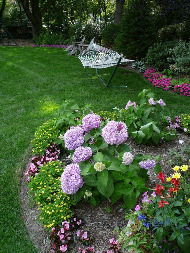 purple and pink garden design