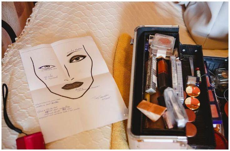 Bride's makeup details