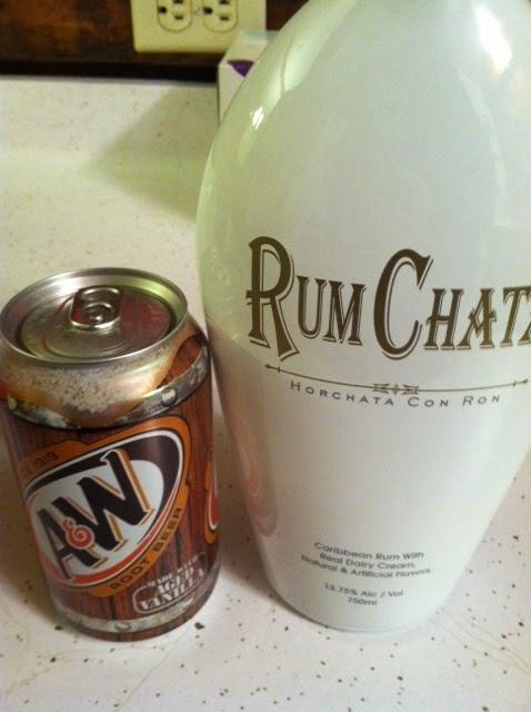 RumChata and Root Beer ~ 1 Part RumChata,  2 parts Root Beer {Taste Just Like A Root Beer Float}