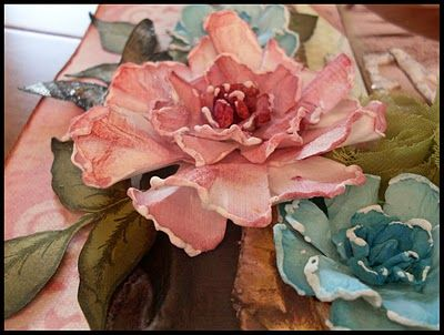 Using Tattered Florals (Tim Holtz)