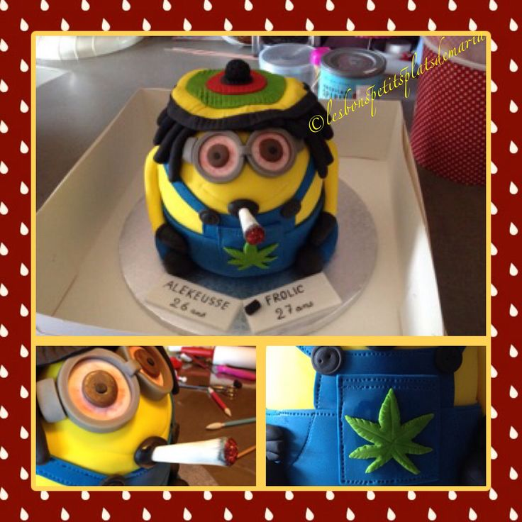 Gâteau Minion Rasta