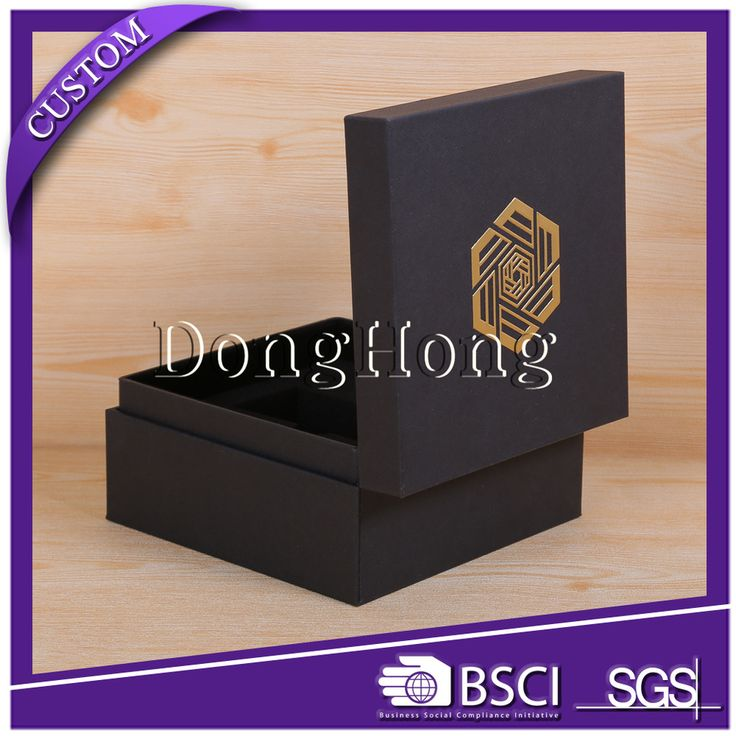 Black texture paper with embossed logo usb flash drive gift packaging box