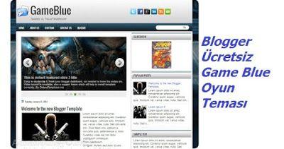 Adnan Güney: Blogger Ücretsiz Game Blue Oyun Teması