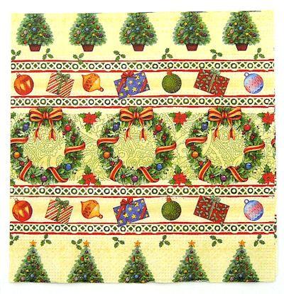Serwetki decoupage 107 - Świąteczny wieniec x2 - ID: 17746 - papierA4.pl