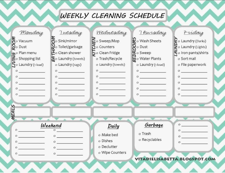 Best 25+ Weekly cleaning schedule printable ideas on Pinterest - cleaning schedule template
