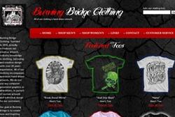 Burning Bridge Clothing website by Gravity Marketing, Inc.